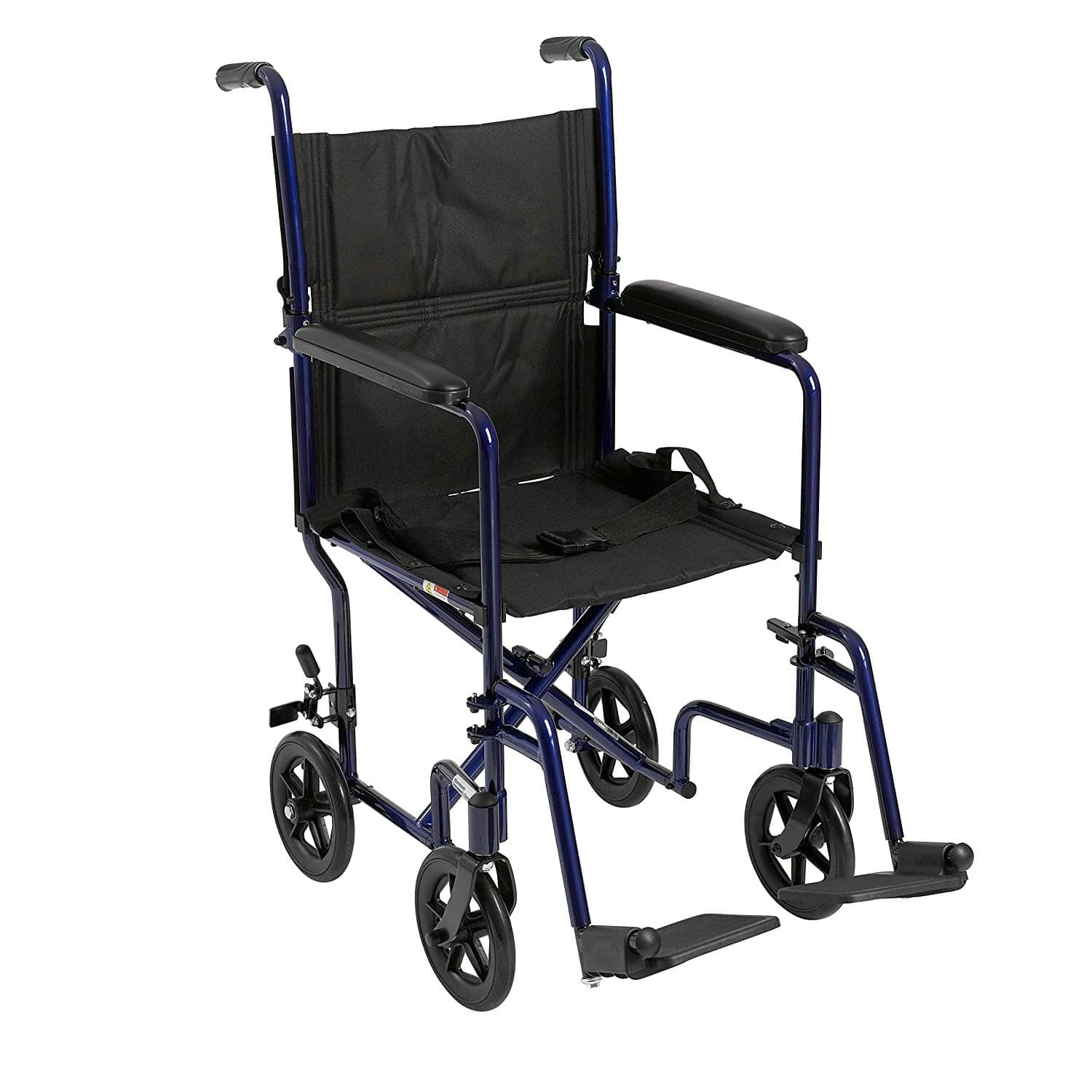 drive medical aluminum transport chair 19  blue