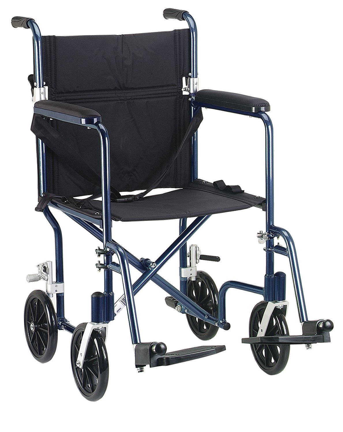 drive medical fw19bl fly weight transport chair