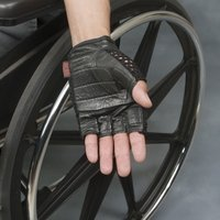 mesh heavy duty gel gloves for wheelchair user
