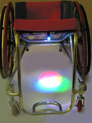 wheelchair Wheel light