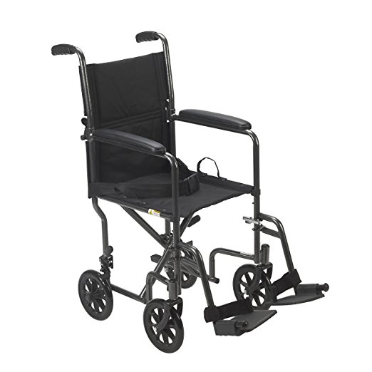 Medical lightweight transport wheelchair