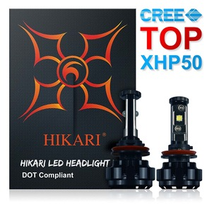 HIKARI LED Headlight Bulbs Conversion Kit -H11(H8,H9),CREE XHP50 9600lm 6K Cool White