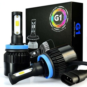 JDM ASTAR G1 8000 Lumens Extremely Bright COB Chips H11 H9 H8 All-in-One LED Headlight Bulbs Conversion Kit