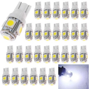 AMAZENAR 30-Pack White Replacement Stock #: 194 T10 168 2825 W5W 175 158 Bulb 5050 5 SMD LED Light