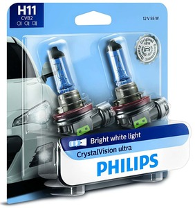 Philips H11 CrystalVision Ultra Upgrade Headlight/Foglight bulb