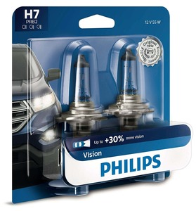 Philips H7 Vision Upgrade Headlight Bulb