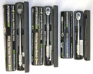 Pittsburgh Pro Reversible Click Type Torque Wrench