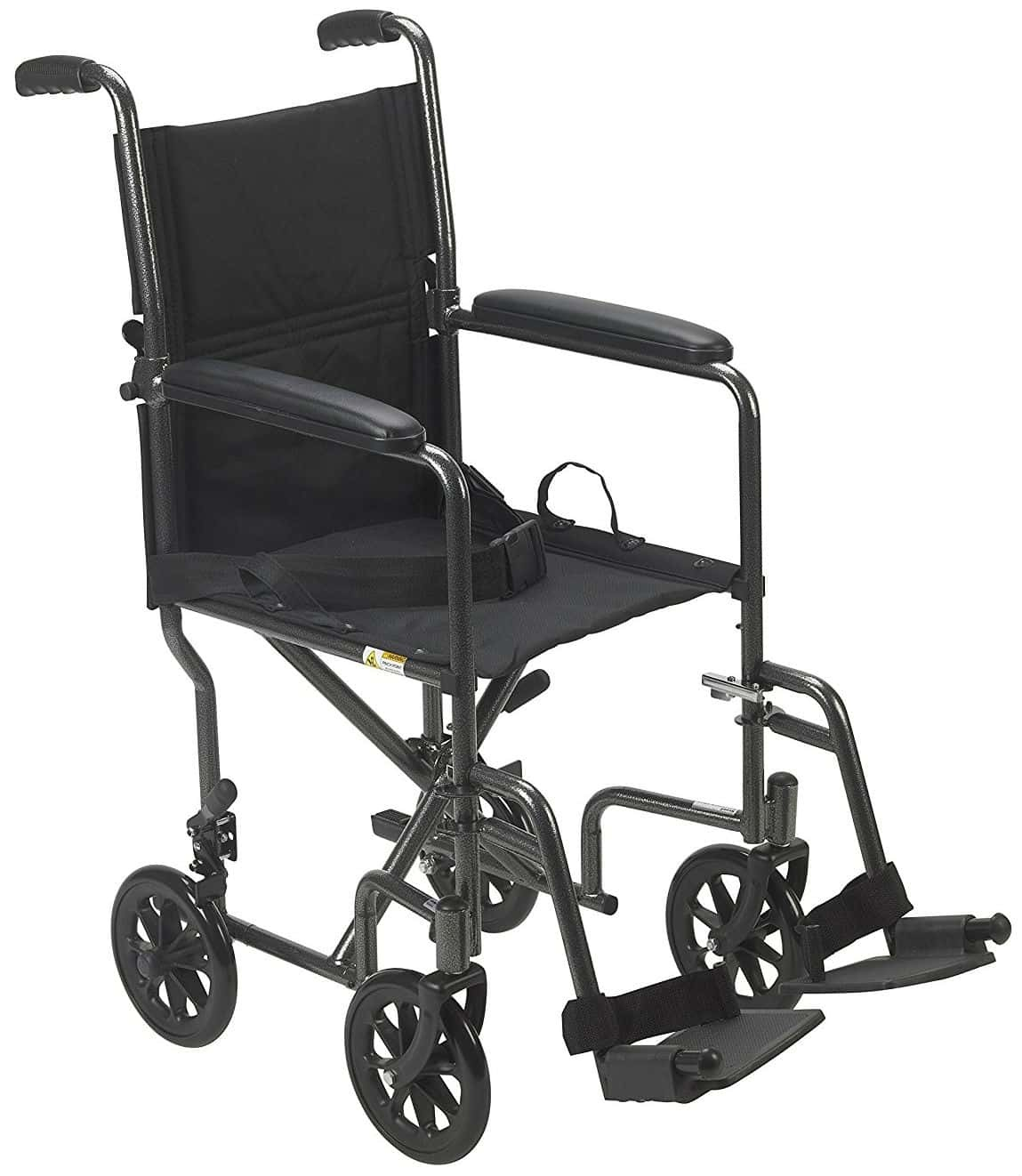 19-inch Seat Medical Lightweight Steel Transport Wheelchair