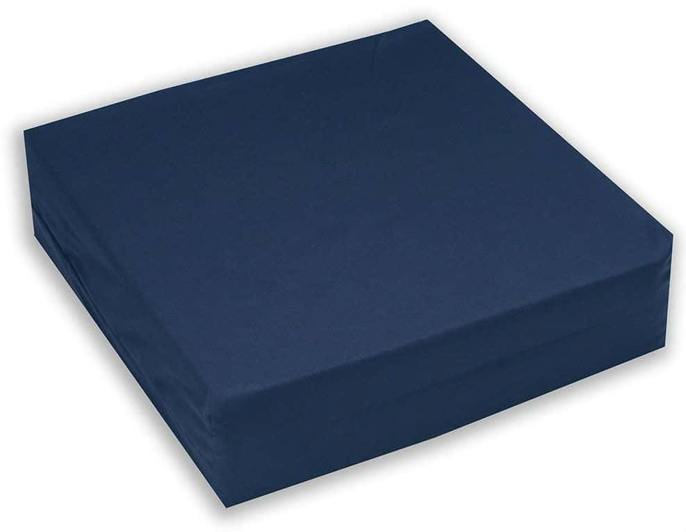 Hermell Convoluted Wheelchair Cushion, Egg Crate Foam, Removable Navy Blue Cover